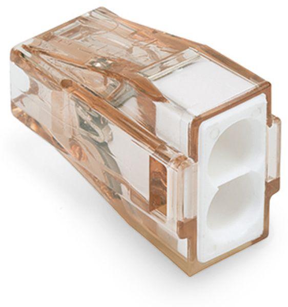 Verbindungsdosenklemme WAGO 773-602, 2 Leiter, braun-transparent, 100 Stück