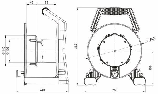 Kabeltrommel, XREEL 250, 25m - Produktbild 2