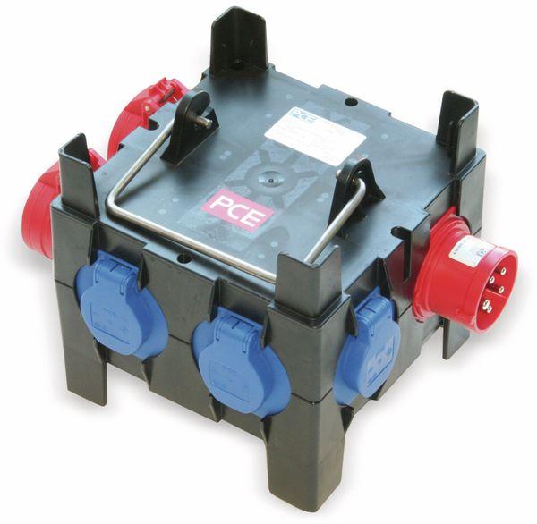 Stromverteiler, IMST, 2x CEE 16A, 4x Schutzkontakt-Steckdose