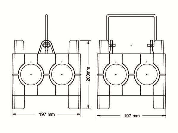 Stromverteiler, IMST, 2x CEE 16A, 4x Schuko - Produktbild 2
