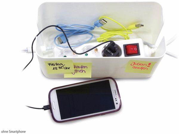 Kabelbox LOGILINK KAB0061, weiß - Produktbild 4