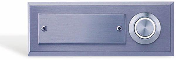 Klingeltaster REV, 1-fach, Edelstahl, beleuchtet, weiß, 95x35x15 mm