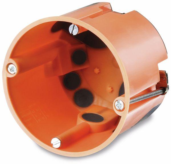 Hohlwanddose, Ø 68 mm, T 61 mm, winddicht, mit Durchstossmembran