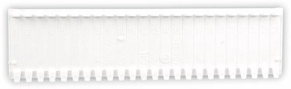 Abdeckstreifen, 12 Einheiten, weiß, 10 Stück