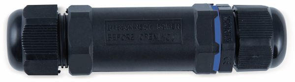Kabelverbinder HEITRONIC 45608, 3-polig, IP68 - Produktbild 1