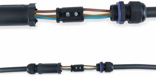 Kabelverbinder HEITRONIC 45608, 3-polig, IP68 - Produktbild 2