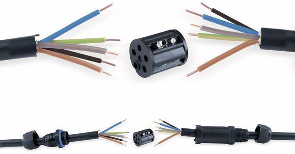 Kabelverbinder HEITRONIC 45611, 5-polig, IP68 - Produktbild 2