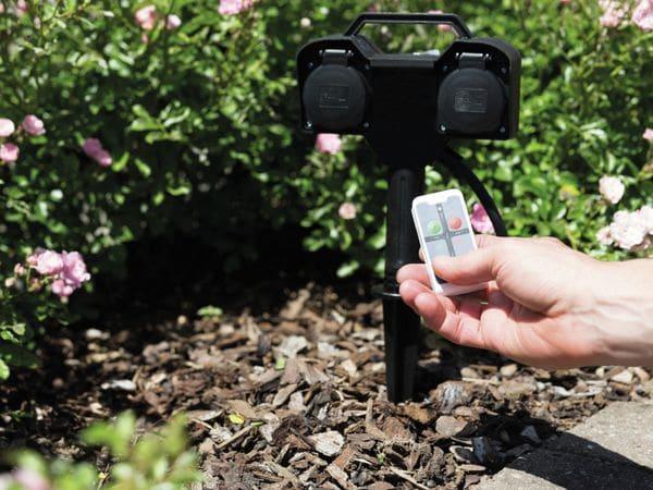 Gartensteckdose HEITRONIC 35469, 2-fach, Fernbedienung - Produktbild 4