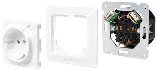 Schutzkontaktsteckdose LOGILINK PA0162, 2x USB - Produktbild 5