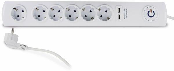 Steckdosenleiste REV, 6-fach, mit Schalter, 2x USB, ÜS