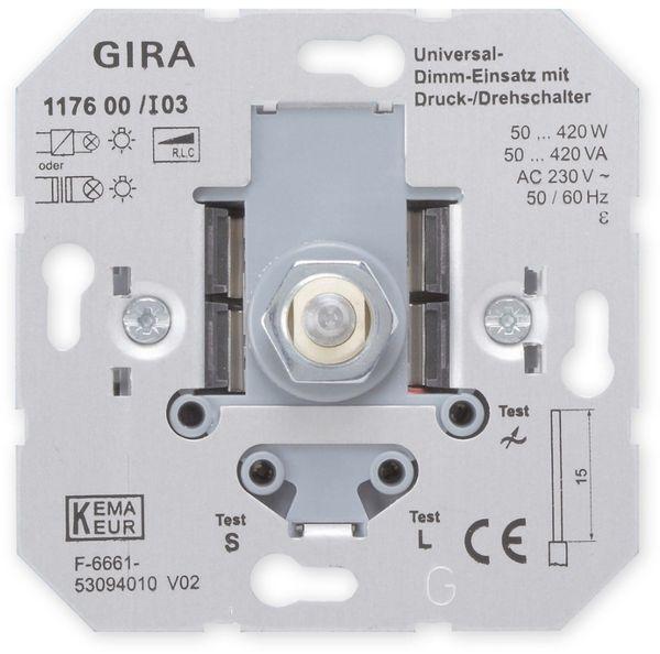 GIRA UP-Einsatz 117600, Dreh-/Druckdimmer, 40…420 W
