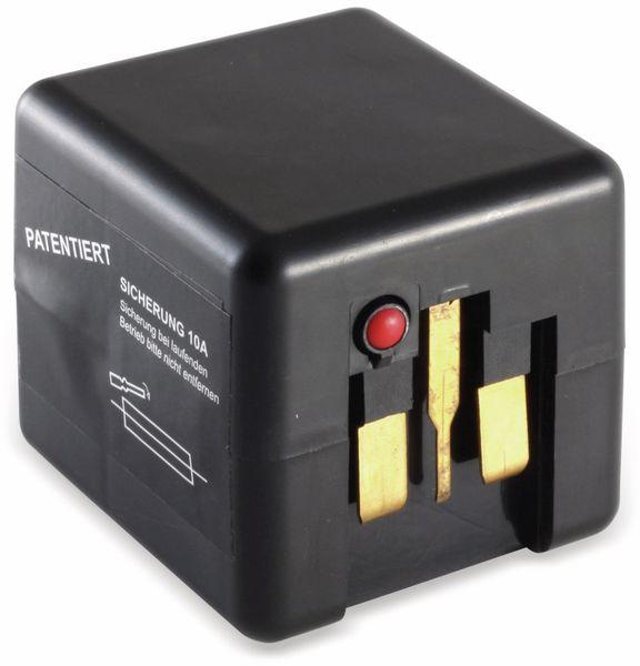 Welt-Reiseadapter mit Schutzkontakt-Steckdose, 2x USB, TÜV - Produktbild 3