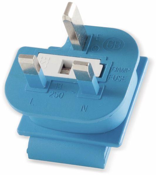 Welt-Reiseadapter mit Schutzkontakt-Steckdose, 2x USB, TÜV - Produktbild 4