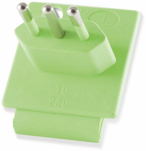 Welt-Reiseadapter mit Schutzkontakt-Steckdose, 2x USB, TÜV - Produktbild 6