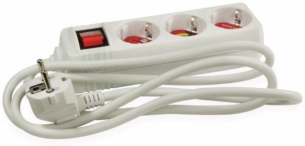 Steckdosenleiste ARCAS, 3-fach, Schalter, weiß