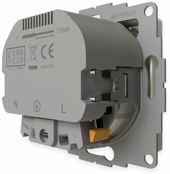 Schutzkontakt-Steckdose 2USB inCharge Pro, 2x USB, 2,4 A, reinweiß glänzend - Produktbild 4