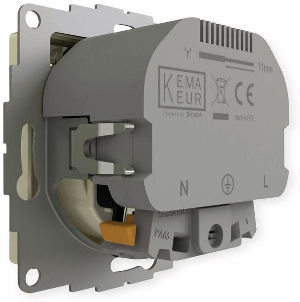 Schutzkontakt-Steckdose 2USB inCharge Pro, 2x USB, 2,4 A, cremeweiß glänzen - Produktbild 4