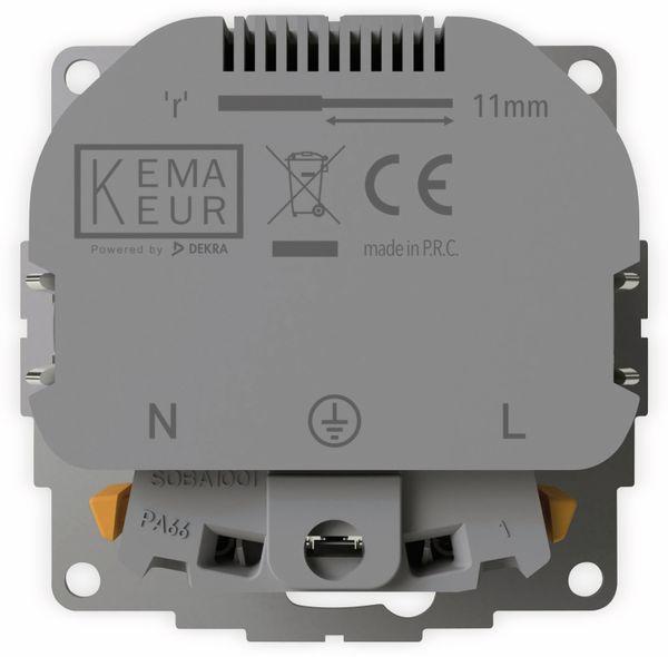 Schutzkontakt-Steckdose 2USB inCharge Pro, 2x USB, 2,4 A, cremeweiß glänzen - Produktbild 5