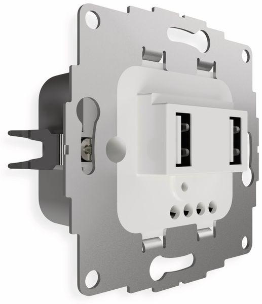 USB Ladestation 2USB chargeUP TAE,2x USB, 2,4 A, reinweiß glänzend