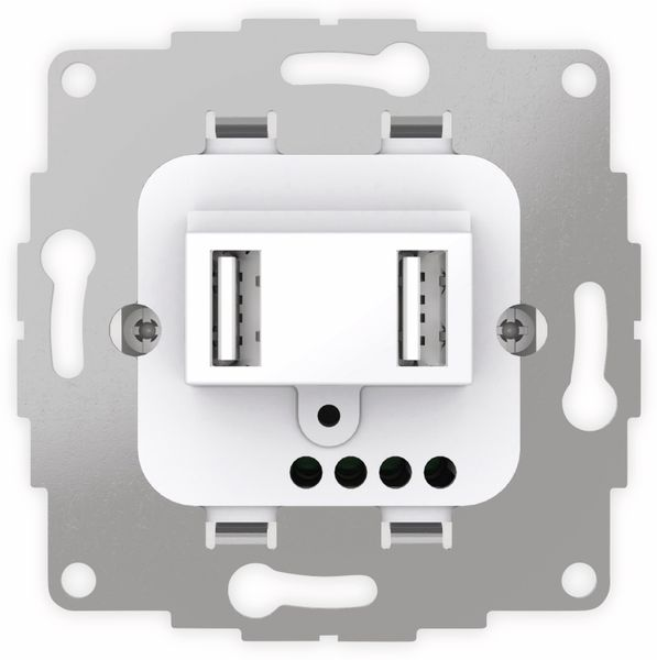 USB Ladestation 2USB chargeUP TAE,2x USB, 2,4 A, reinweiß glänzend - Produktbild 2