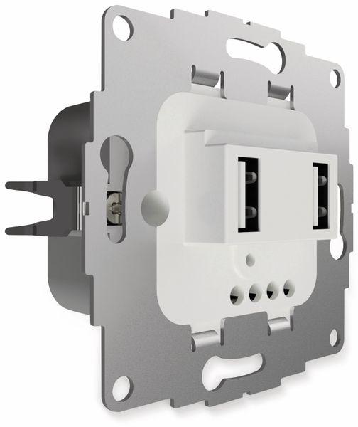 USB Ladestation 2USB chargeUP TAE,2x USB, 3,8 A, reinweiß glänzend
