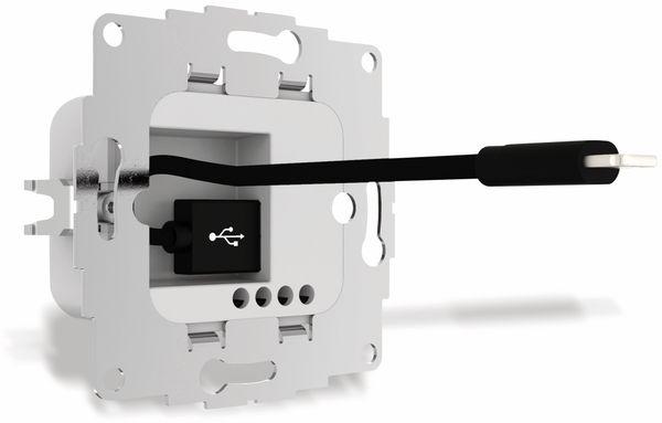 USB Ladestation 2USB chargeUP ,USB, 2,4 A, hellgrau - Produktbild 2