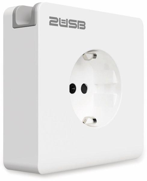 Schutzkontakt-Steckdose 2USB easyCharge 8080, AP, 2x USB, 2,4A, Handyhalter - Produktbild 3