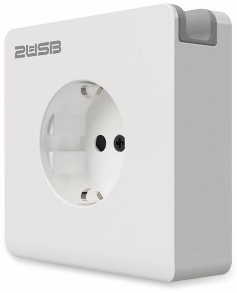 Schutzkontakt-Steckdose 2USB easyCharge 8080, AP, 2x USB, 2,4A, Handyhalter - Produktbild 4