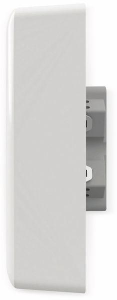 Schutzkontakt-Steckdose 2USB easyCharge Duo, AP, 2x USB, 2,4A, Handyhalter - Produktbild 6