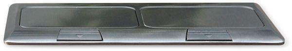 Boden-Einbausteckdose LEDmaxx, 2x Steckdose, 2x RJ45, Alu, eckig - Produktbild 9