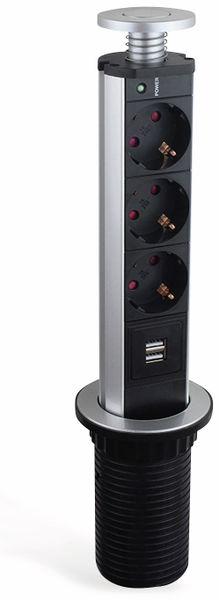 Steckdosensäule LEDmaxx TSD001, 3x Steckdose, 2x USB