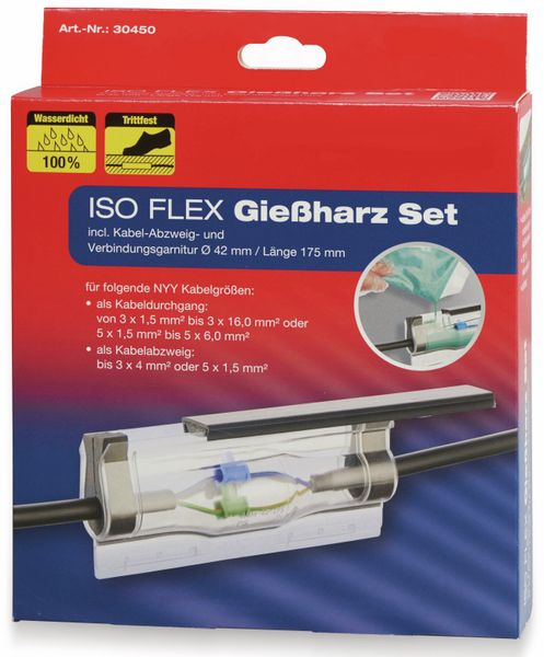 ISO Flex Giessharz-Set HEIDEMANN 30450, bis zu 5x6 mm², 160 ml - Produktbild 2