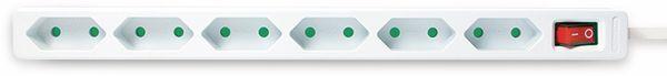 Euro-Steckdosenleiste LOGILINK, 6-fach, Schalter, weiß - Produktbild 2