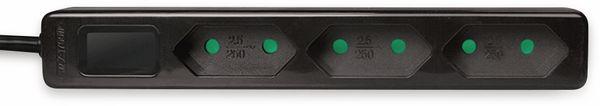 Euro-Steckdosenleiste LOGILINK, 3-fach, schwarz - Produktbild 2