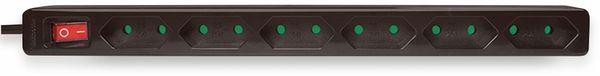 Euro-Steckdosenleiste LOGILINK, 6-fach, Schalter, schwarz - Produktbild 2