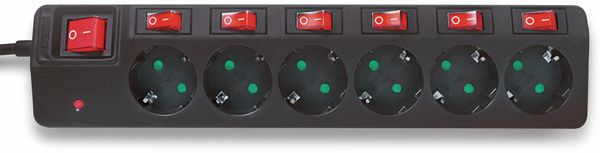 Steckdosenleiste LOGILINK LPS233, 6-fach, schwarz - Produktbild 2