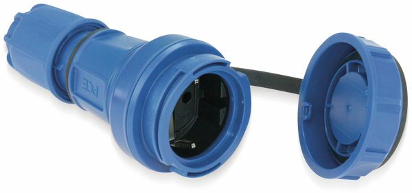 Schutzkontaktkupplung PCE Nautilus, mit Schutzkappe, IP68