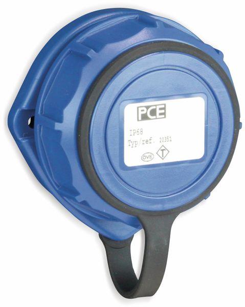 Anbaudose PCE Nautilus, IP68, oval, 75x75 mm, mit Deckelband