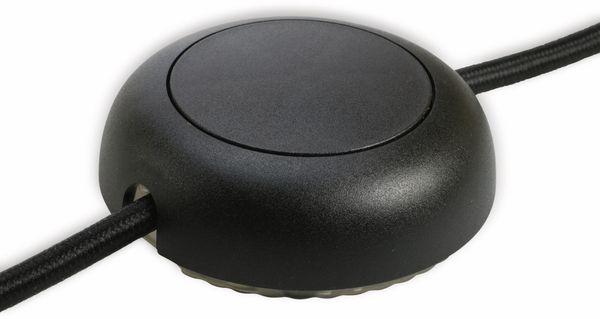 LED Schnurdimmer mit Drucktaster, T24.08, 150 W, schwarz