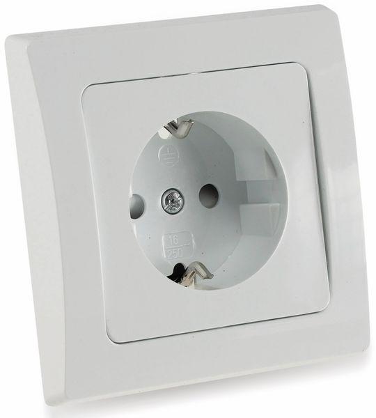 Schutzkontakt-Steckdose DELPHI, Klemmanschluss, 16A/230V - Produktbild 2