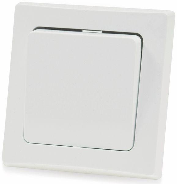 Kreuzschalter DELPHI, 10A/250V, weiß - Produktbild 2