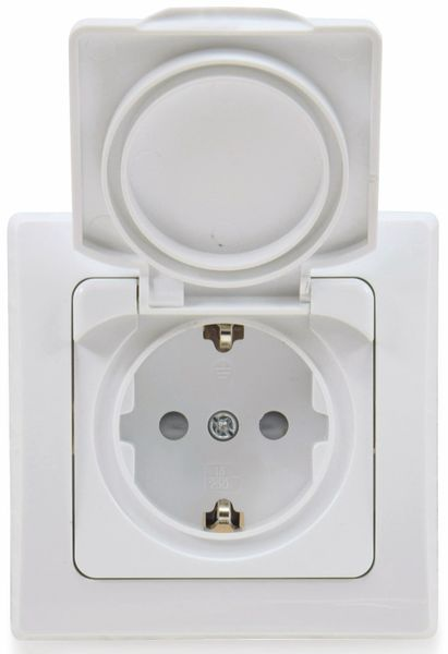 Schutzkontakt-Steckdose DELPHI, 16A/250V, weiß, IP44