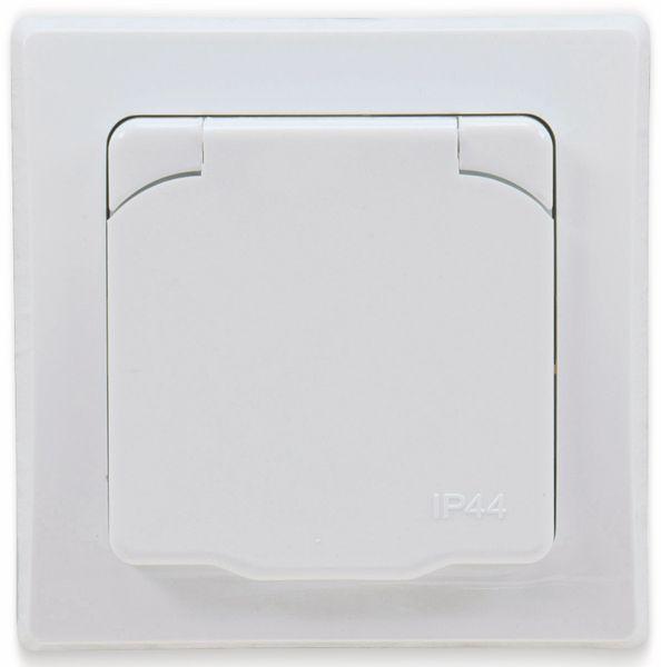 Schutzkontakt-Steckdose DELPHI, 16A/250V, weiß, IP44 - Produktbild 2