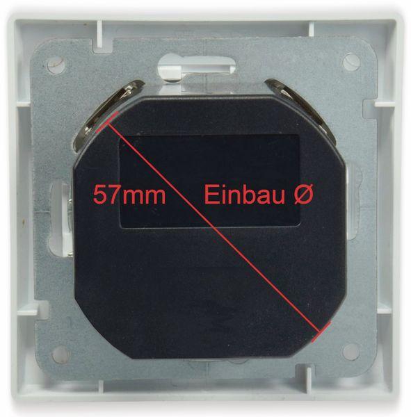 Schutzkontakt-Steckdose DELPHI, 16A/250V, weiß, 2x USB - Produktbild 3
