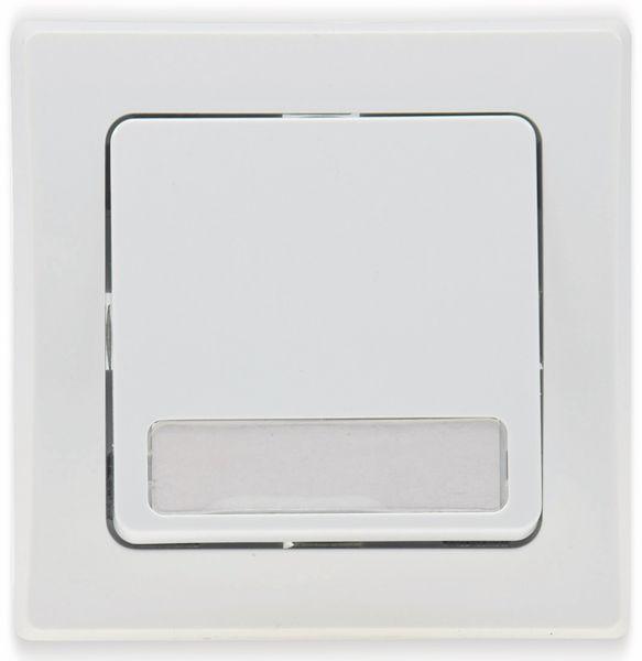 Tastereinsatz DELPHI, mit Namensschild, 230 V, 10 A, weiß