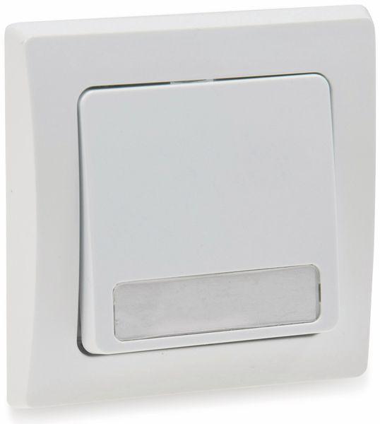 Tastereinsatz DELPHI, mit Namensschild, 230 V, 10 A, weiß - Produktbild 2