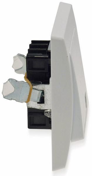 Tastereinsatz DELPHI, mit Namensschild, 230 V, 10 A, weiß - Produktbild 3