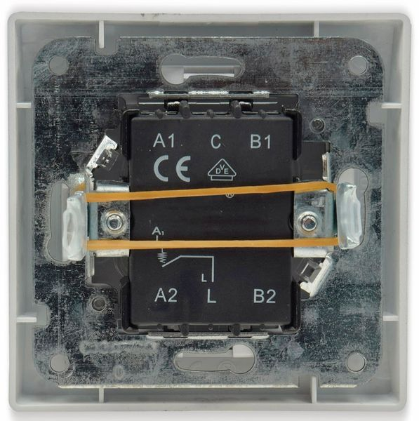 Tastereinsatz DELPHI, mit Namensschild, 230 V, 10 A, weiß - Produktbild 4