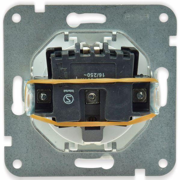 Schutzkontakt-Steckdose DELPHI, 16A/250V, weiß - Produktbild 2