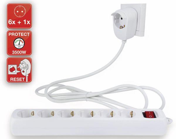 Steckdosenleiste REV Powersplit, 6-fach, mit Schalter0 5 m, weiß